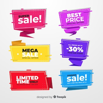 Origami sale banner collecion