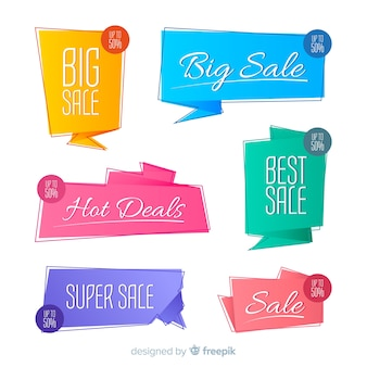 Origami sale banner collectio