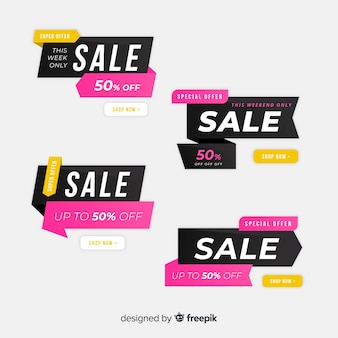 Origami sale banner collection