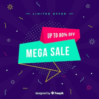 Origami sales background flat design