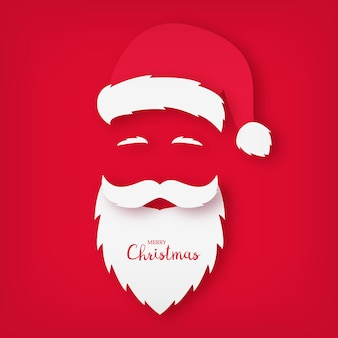 Origami of santa claus. christmas card. new year. vector illustration.