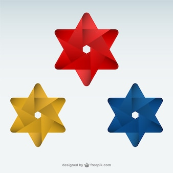 Origami star logo template