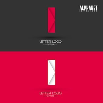 Origami style i letter logo