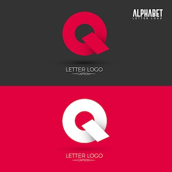 Origami style q letter logo