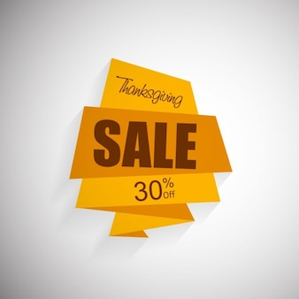 Origami, thanksgiving, sales