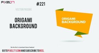 Origami yellow background