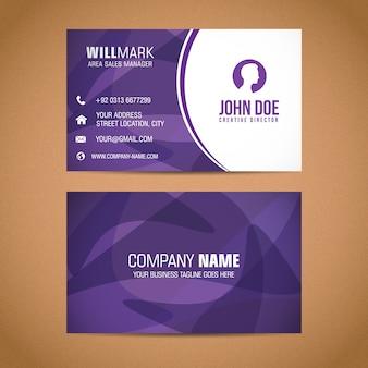 Original business card with flat design