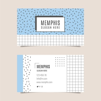 Original business card with lines and swuares
