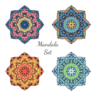 Original colorful mandala elements collection.