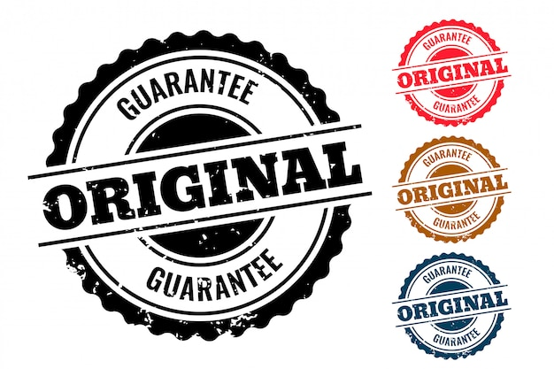 Original guarantee authentic rubber stamp set of four