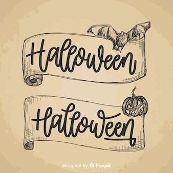 Original hand drawn halloween banners