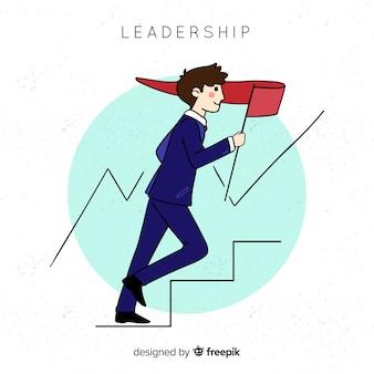 Original hand drawn leadership composition