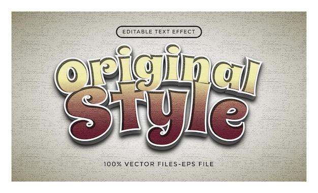 Original - illustrator editable text effect premium vector