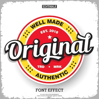 Original label badge for product logo with retro style