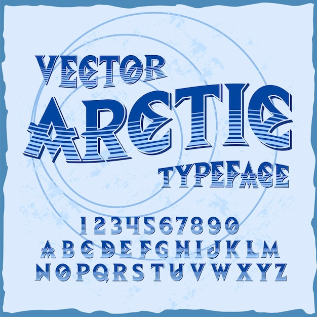 「arctic」という名前のオリジナルのラベル書体。