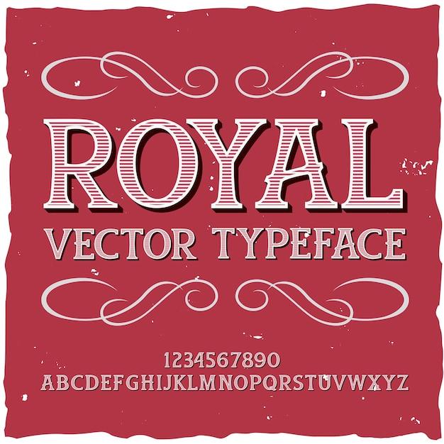 Оригинальный шрифт этикетки - «роял». хороший ручной шрифт для любого дизайна этикеток.