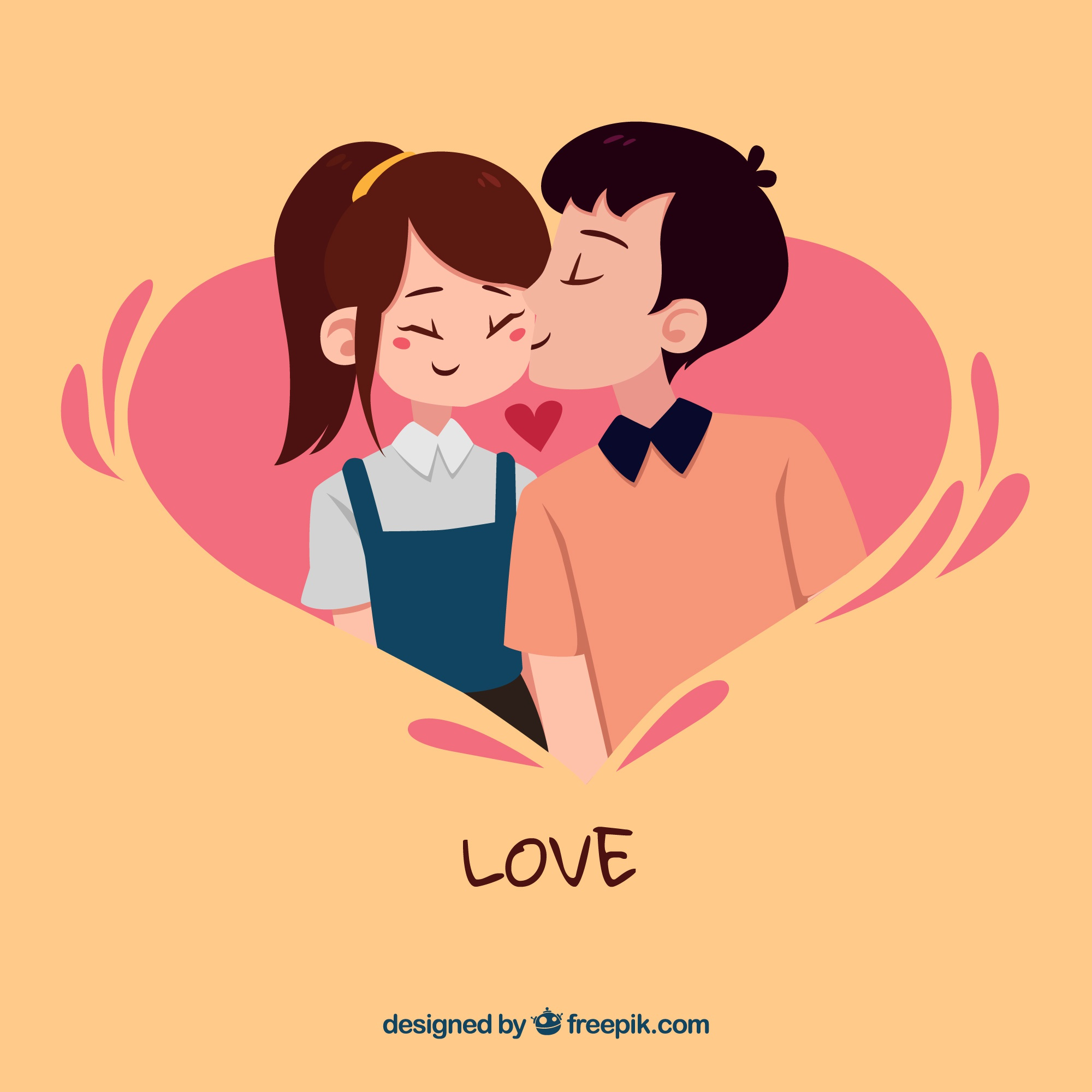 Original love composition with modern style
