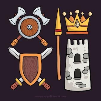 Confezione originale di elementi medievali