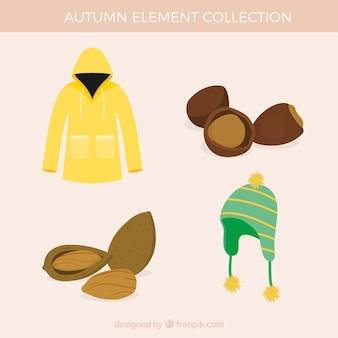 Original pack of autumnal elements