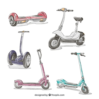 Original pack of hand drawn scooters