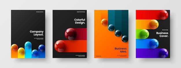 Комплект оригинальных векторных макетов плакатов
