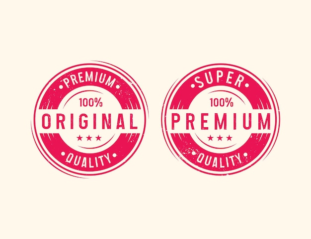 Original and premium distressed grunge typography stamp for product or apparels