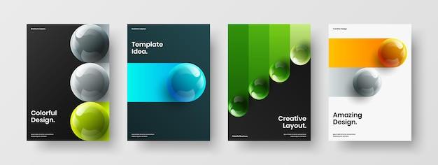Original presentation design vector concept composition