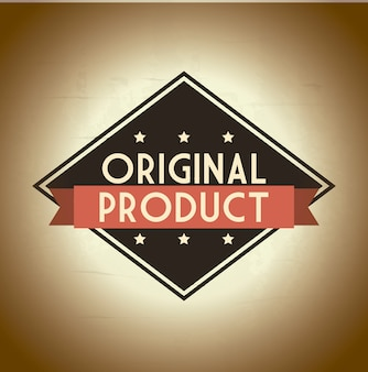 Original product over beige background vector illustration