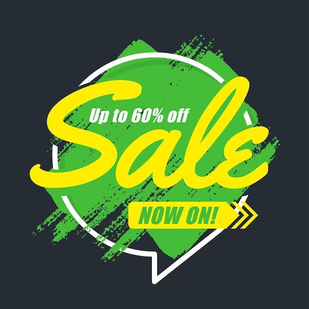 Оригинальный рекламный баннер кистью, фон продаж, ценник. векторная иллюстрация