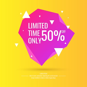 Original sale poster for discount. abstract polygonal background. low poly design. illustration