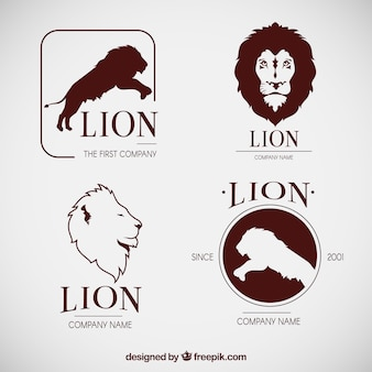 Original set of cool lion logos