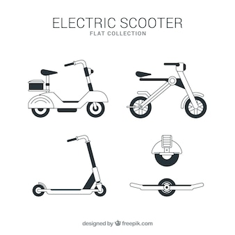 Original set of electric scooters
