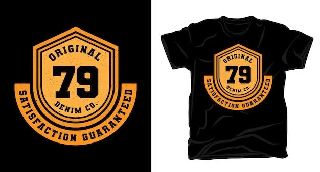 Оригинальный дизайн футболки с типографикой семьдесят девять