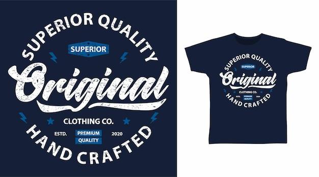 원래 우수한 품질의 타이포그래피 티셔츠 디자인 컨셉