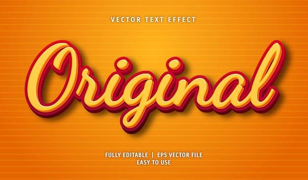 Original text effect, editable text style Premium Vector