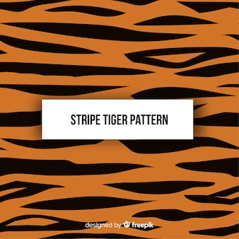 Original tiger pattern with flat design