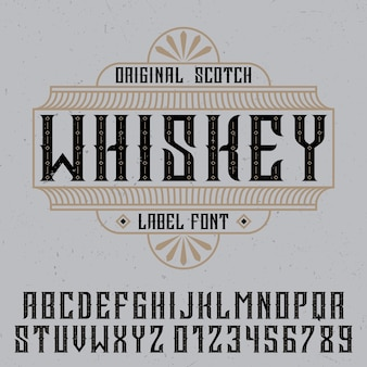 Original whiskey label