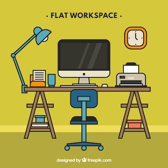 Оригинальное рабочее пространство с забавным стилем