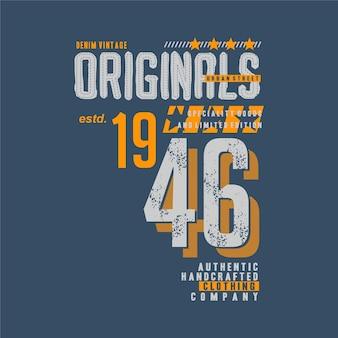 원본 글자 t 셔츠 타이포그래피 디자인 도시 캐주얼 스타일