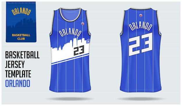 Orlando basketball jersey template design