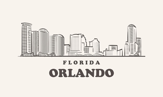 올랜도 스카이 라인, 플로리다 스케치 미국 도시