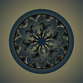 Ornament abstract background, laser cutting mandala