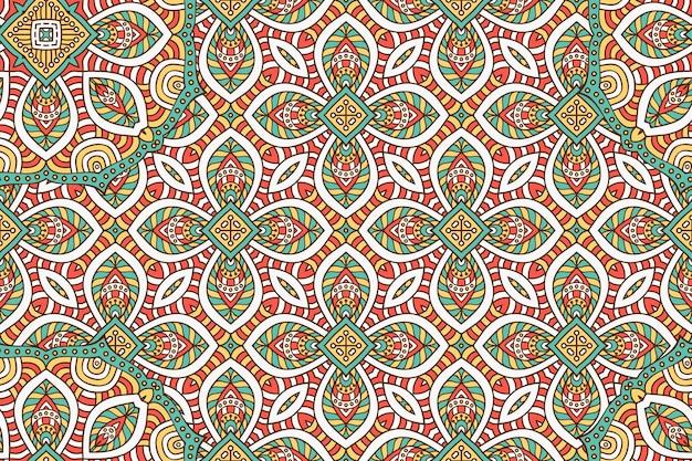 Орнамент красивый фон геометрический круг элемент в векторе