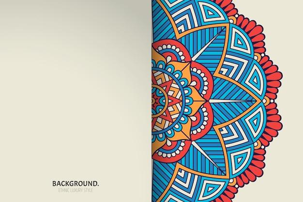 飾り美しい背景ベクトルで作られた幾何学的な円要素