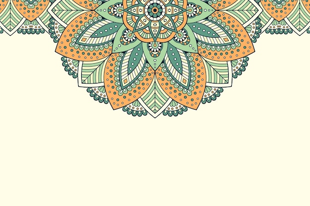 Ornament beautiful background geometric circle element
