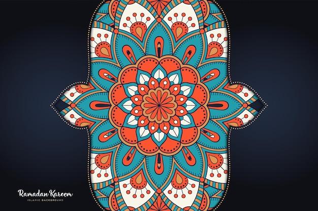 飾り美しい背景幾何学的な円要素