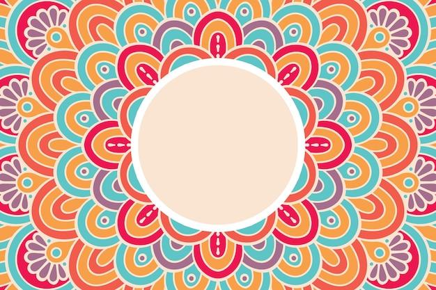 Ornament beautiful background geometric circle element