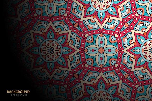 Ornamento bellissimo sfondo elemento cerchio geometrico