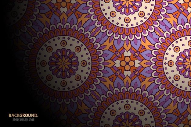 Орнамент красивый фон геометрический круг элемент