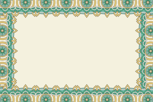 Ornament beautiful background geometric floral frame